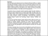 [thumbnail of This is a report from an NCRM collaborative project in 2008-09]