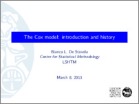 [thumbnail of The Cox model: introduction and history]