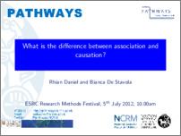 [thumbnail of UPLOADED_PRESENTATION_RMF_2012_Association_Causation_Rhian_Bianca.pdf]
