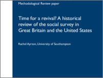 [thumbnail of Time for a revival - A historical review of the social survey in Great Britain and the United States.pdf]
