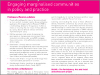 [thumbnail of 3. Practice Policy Briefing Participatory Action Research Engaging marginalised communities in policy and practice.pdf]