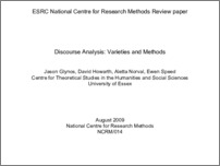 [thumbnail of Methods review paper: Discourse Analysis]